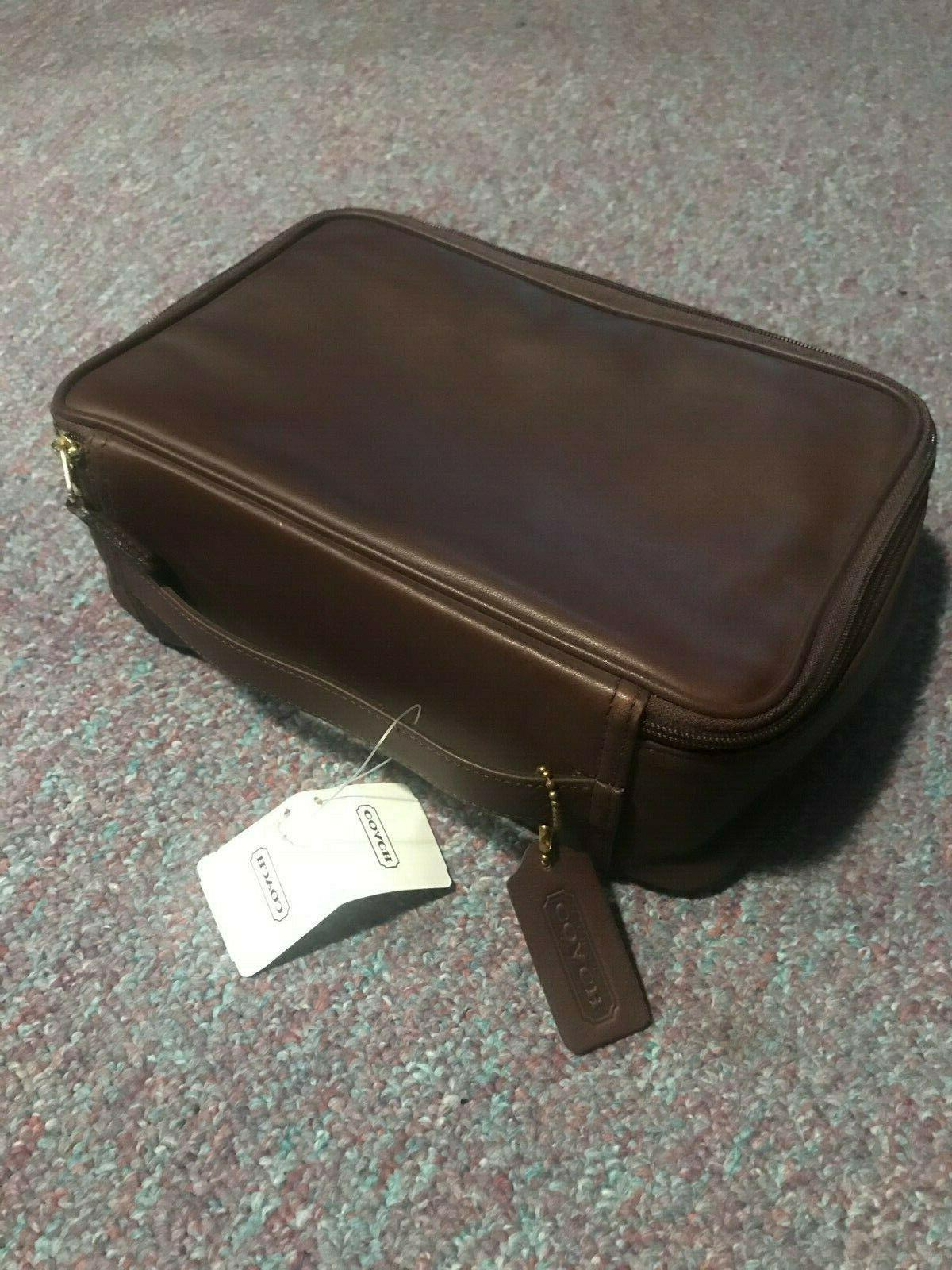 "Genuine COACH BRAND Leather Travel ""DOPP"" kit never used, pe"