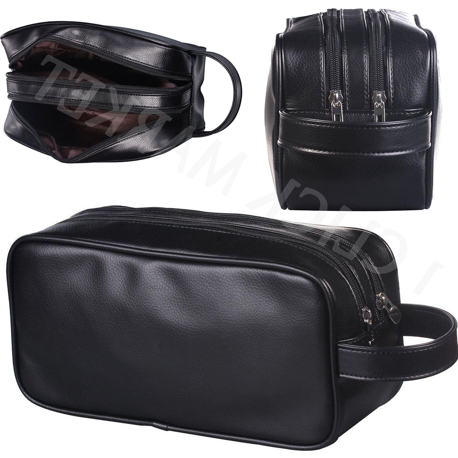 d429772be3 Genuine Leather Dopp Kit Shaving Accessory Toiletry Travel B