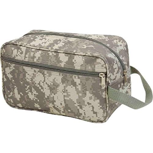 green camo water resistant toiletries