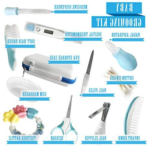 Complete Piece | Deluxe Essential | Babies Thermometer, Nail Brush, Files, Scissor, Nasal Aspirator