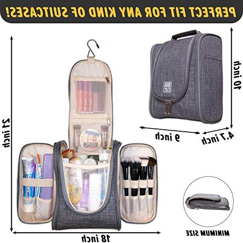 Boacay Travel Toiletry and Men | Bag | and Shower Elastic Band Holders Toiletries, Cosmetics,