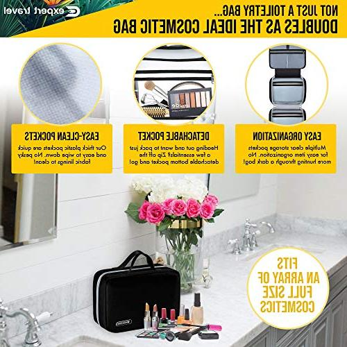 Hanging for Men Women | Cosmetic Bag | and Shower Organizer | Leak Proof 2 Sizes & XL