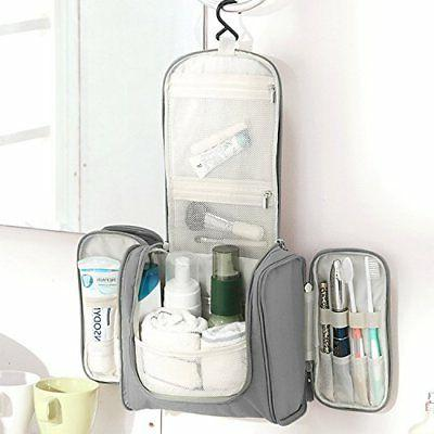 cd79f980cc5e Hanging Toiletry Bag Travel Cosmetic Kit-Large Organizer-Sturdy Hook