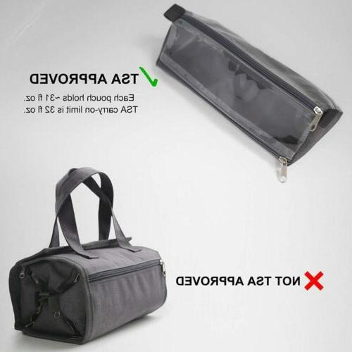 Hanging Travel Organizer Roll Kit Carry On Grey