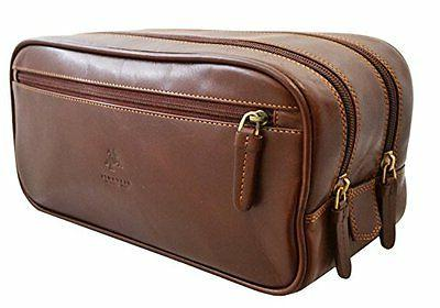 ht100 leather supply toiletry bag