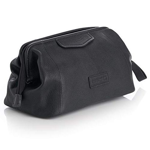 Alpine Toiletry Bag Genuine Leather Kit Case