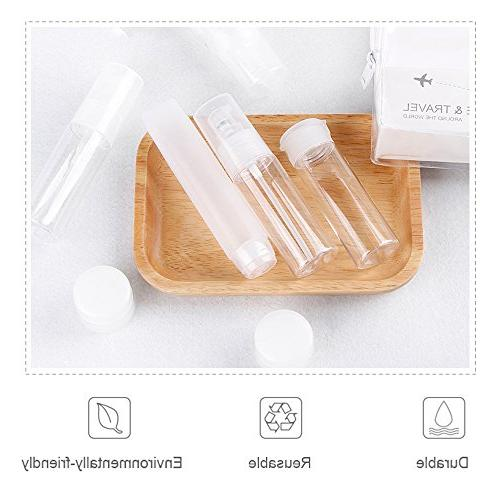 HGDGears 7 Leak Proof Travel Bottles Approved Liquid for Cosmetic Makeup,Plastic Size Bottles with Toiletry