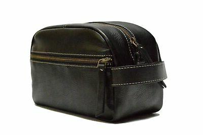 leather kit toiletry bag dopp