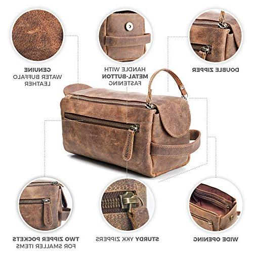 Leather Bag Men Stylish, and Thicker Bags - This Vintage Kit is Small, and Water All Your Travel in