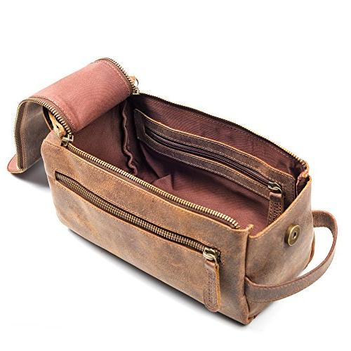 Leather For Men Stylish, Practical and Thicker Other Bags - This Vintage Dopp is Small, Sturdy Water Resistant - All in Style