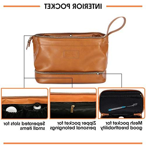Large Mens Toiletry Bag Travel Size Refillable in Clear Bag