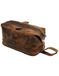 Cuero Shop Leather Toiletry Bag for Men travel kit dopp kit