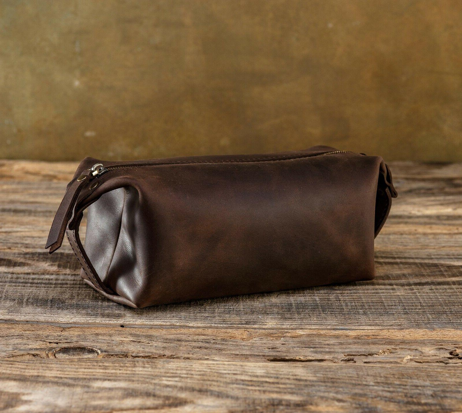 Leather Toiletry Bag Leather Dopp Kit Shaving Bag Travel Bag