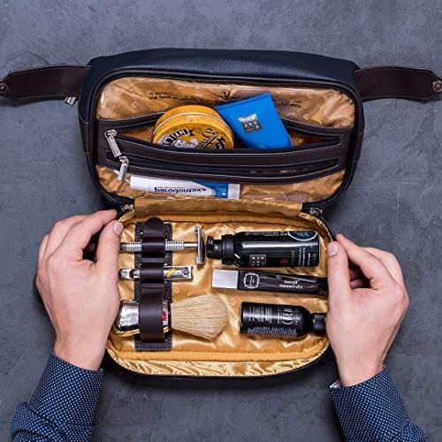 Vetelli Leo Leather Bag for Men - for Vacations Adventures. The ultimate gift and travel