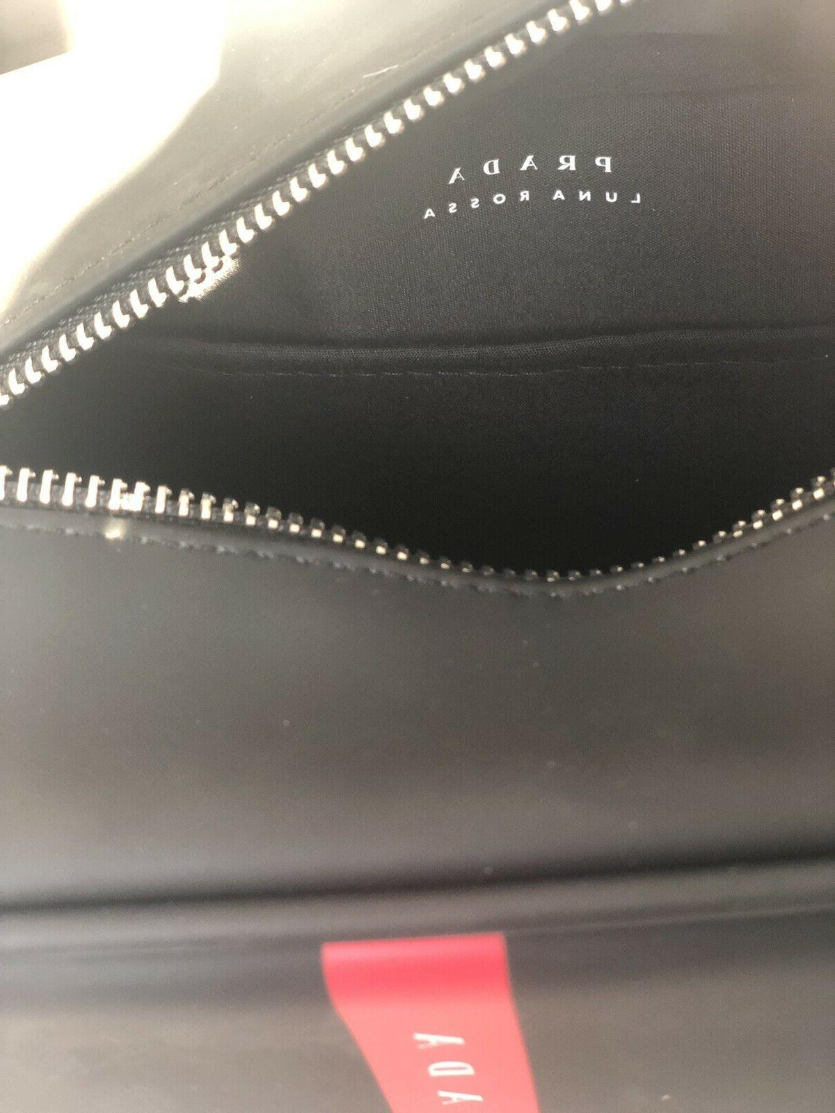 PRADA black toiletry bag dopp case NEW