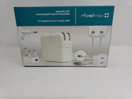 Macbook Replacement with travel adapter slimtech