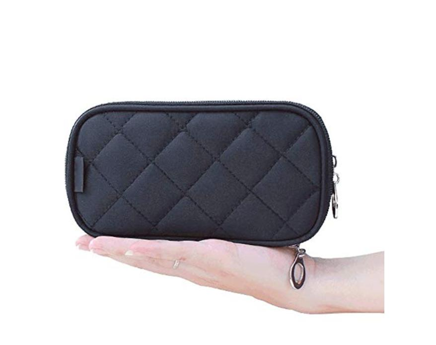Makeup Bag for With Mirror, Travel Pouch Bag, Brush Bag