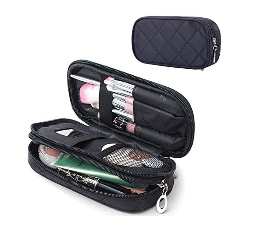 makeup bag for women with mirror travel