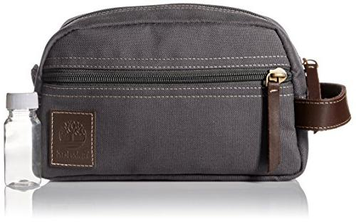 Timberland Men's Toiletry Canvas Travel Charcoal,