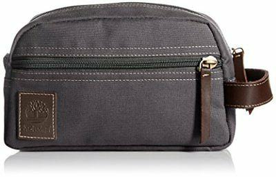 Timberland Men's Toiletry Bag Canvas Travel Kit Organizer, C