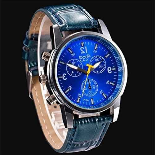men watch luxury crocodile faux