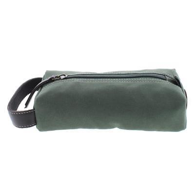 mens green canvas utility cord case travel