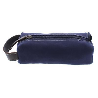 mens navy canvas utility cord case travel