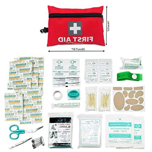 General Medi First Aid Pieces First Aid Kit Includes Foil Blanket,CPR Face Mask,Scissors for Home, & Outdoor