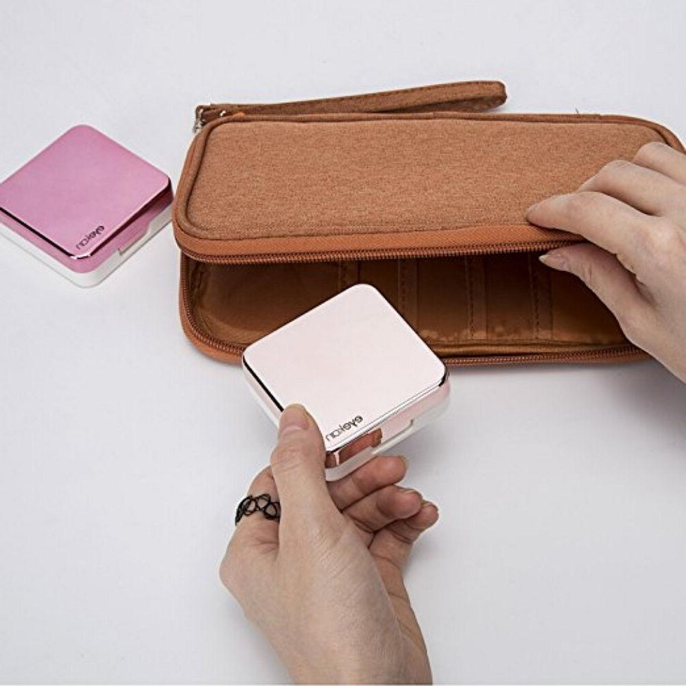 Mini Contact Travel Case Box Kit Set Holder With Mirror