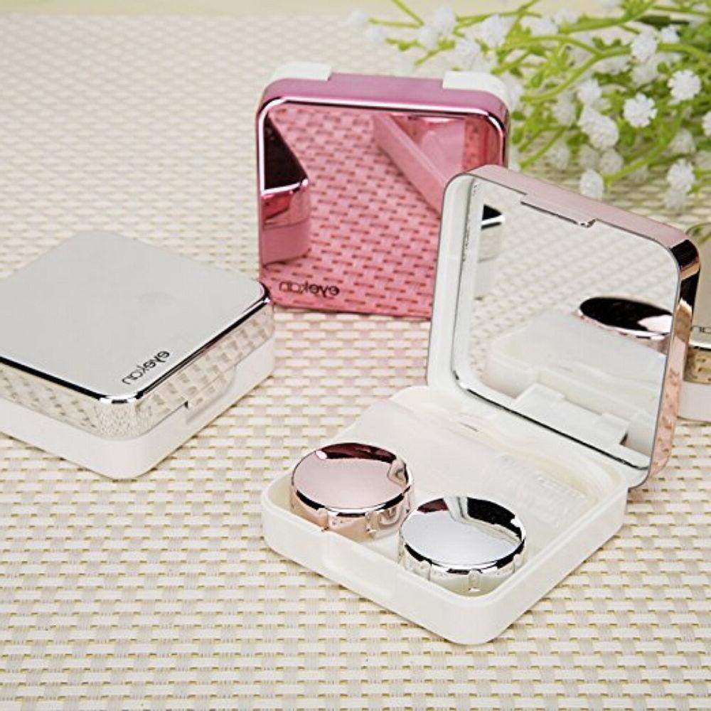 Mini Contact Travel Box Kit Holder Mirror