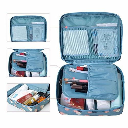 Multifunction Portable Travel Bag Makeup Cosmetic Printed Beach organizer