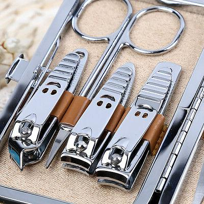 10pcs Nail Personal Manicure Set Grooming Kit Men/Women