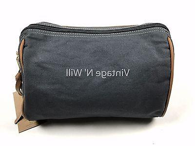 Timberland Navy Leather Toiletry Bag Travel Dopp