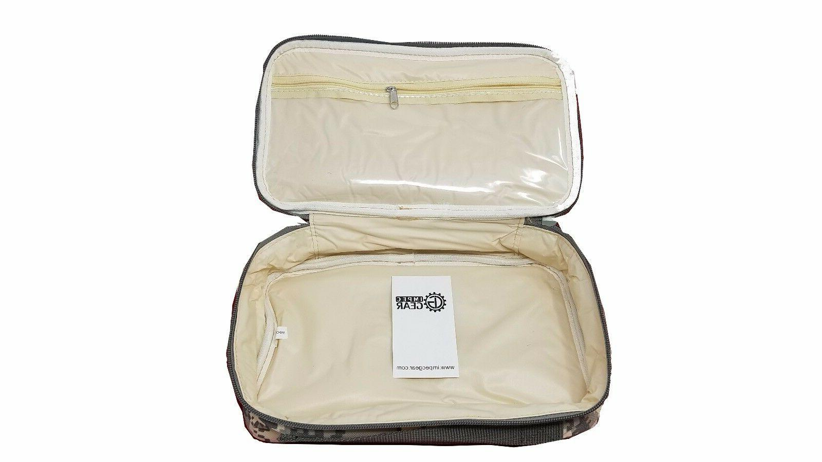 New Green TRAVEL Water Resistant BAG Shave Kit