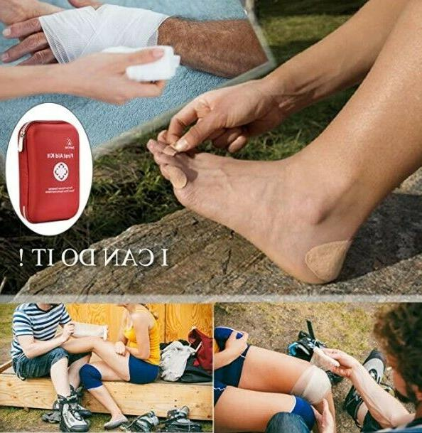 NEW DeftGet First Aid Kit for Car Camping Travel Sports &