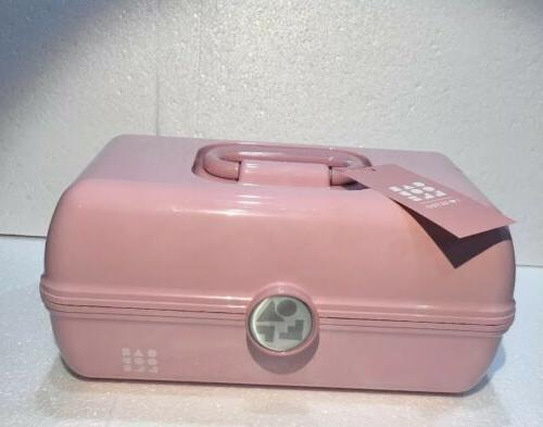 NEW CABOODLES GO MAKEUP TRAVEL CASE RETRO PINK