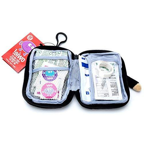 Owie! Ninja Small Aid with Baby Mini First Aid for Baby - This kit is for Baby Purse mom Purse