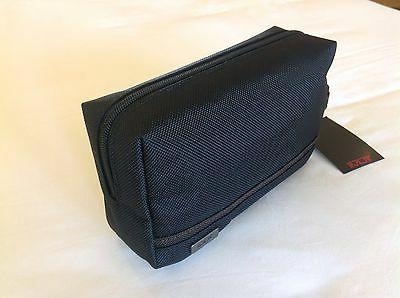 ELECTRONIC ZIPPER POUCH BAG BLACK AND BROWN TRAVEL BAG