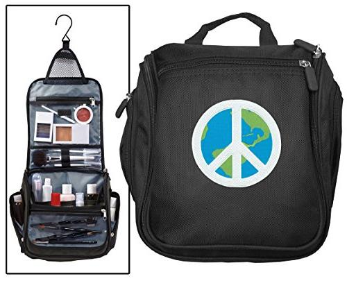 peace sign toiletry bags hanging