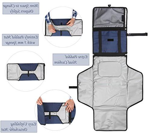 Crystal Smile Changing Pad - Clutch - Station Kit Diapering - Entirely - Pockets Cream