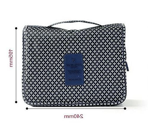 ITraveller Bag/Portable Cosmetic Bag Women or with Hanging Vacation, Blue Star