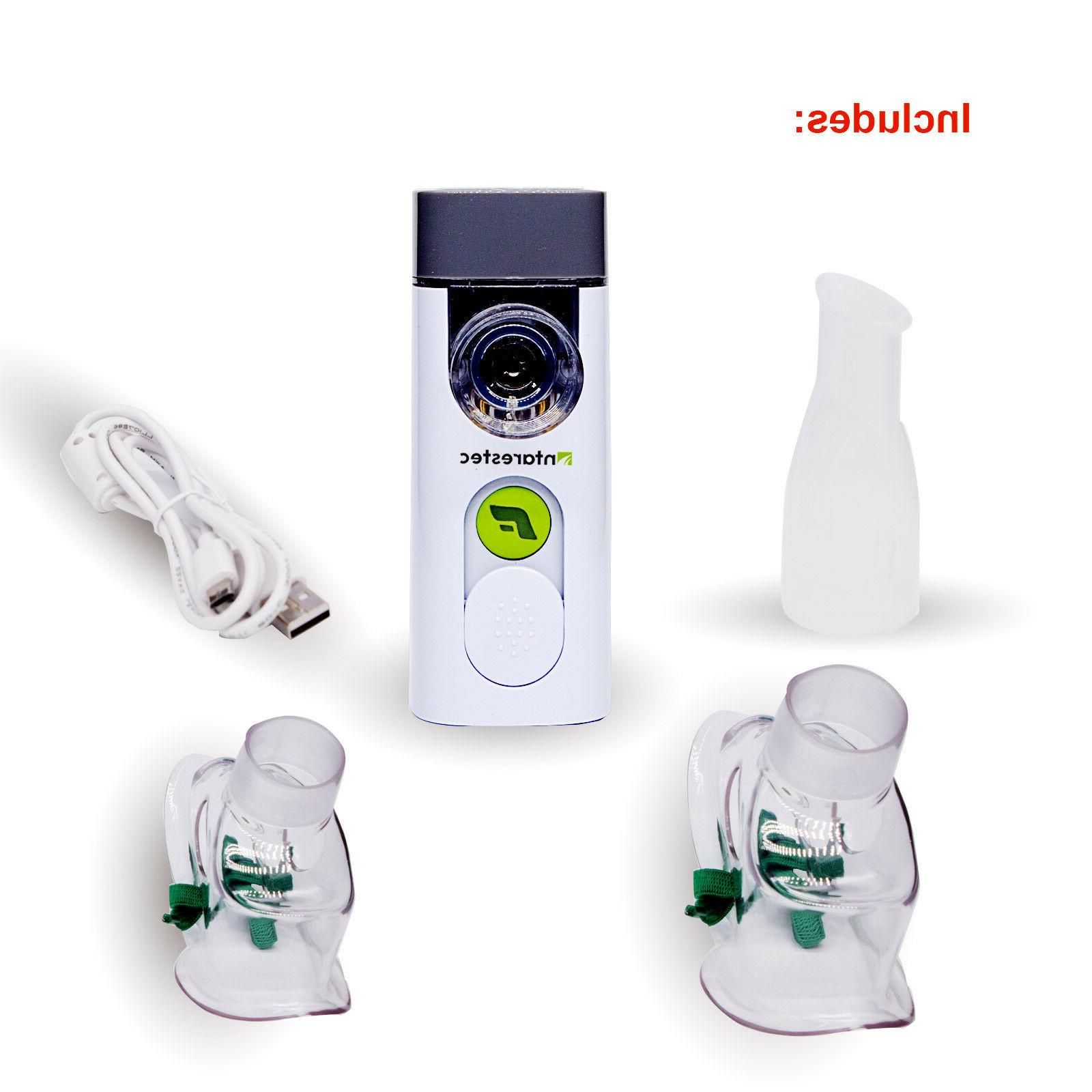 Portable Travel Nebulizer Adult kits for Asthma Two Mask