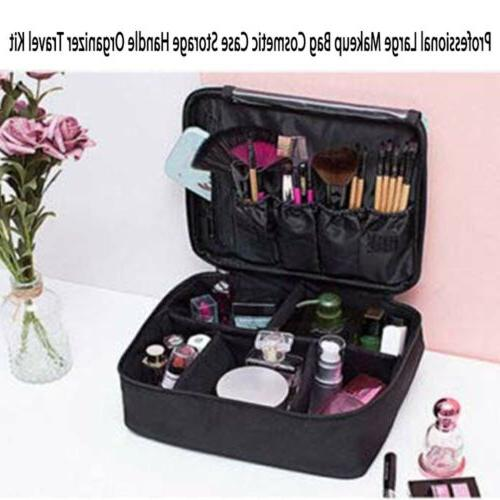 Large Makeup Cosmetic Case Handle Travel Kit Women Care