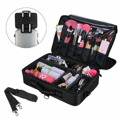 Professional Cosmetic Case Storage Handle Organizer Travel