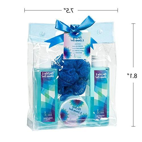 Bath and Body Kit Beauty Set in Zen and Ginseng Root Woman Kits Includes: Shower Gel, Bubble and