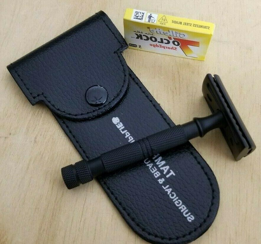 Safety Double Shaving Handle + Blades Travel