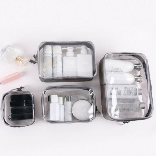 ce8b4b7aa275 3/4 PVC Clear Cosmetic Makeup Toiletry B...