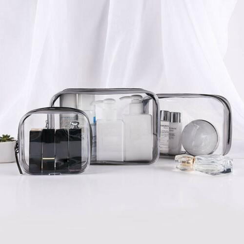 set of 4pcs cosmetic makeup toiletry clear