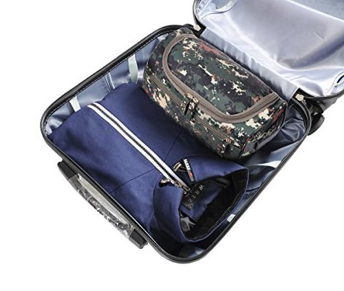 Mens Travel Shaving Bag Small Organizer Kit Accessories, Camouflage