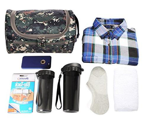 Mens Travel Shaving Bag Organizer Travel Accessories, Camouflage